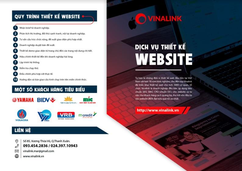 Dịch vụ thiết kế website - Vinalink