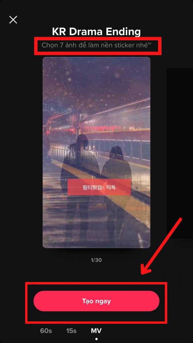 Cách làm video tik tok bằng nhiều hình ảnh